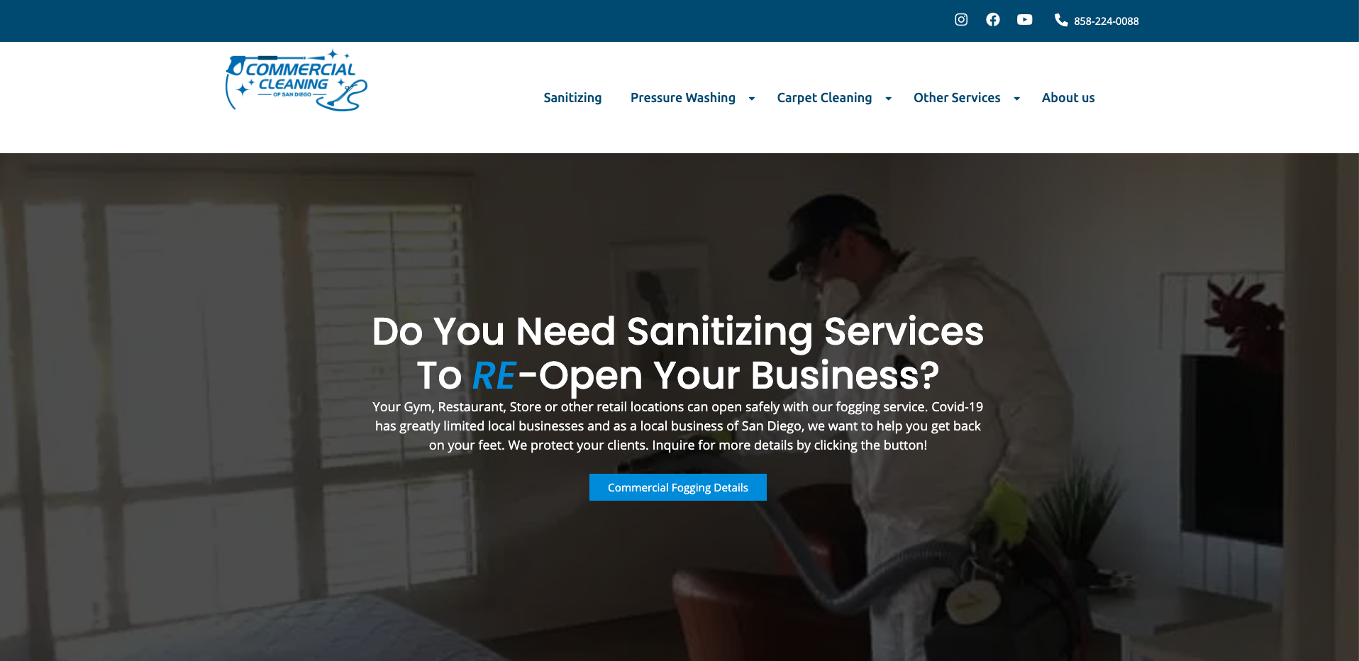Commercial-cleaning-san-diego-homeage-screenshot